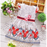 Summer baby clothes girl princess wear flowers dresses for infant baby clothing brand cotton design casual party dresses dress