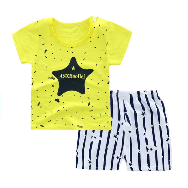 0f57b1c695439 Summer children clothing sets cartoon toddler girls clothing sets top+ –  ToysZoom