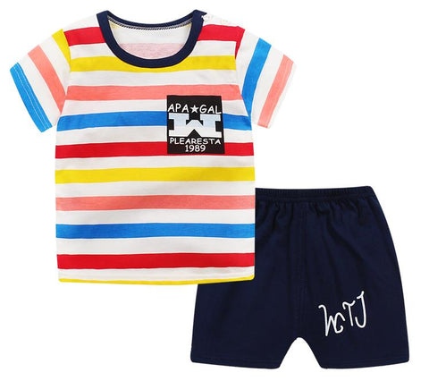 53a06150eb71c Summer children clothing sets cartoon toddler girls clothing sets top+pant  2Pcs/sets kids casual boys clothes sport suits outfit