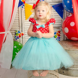 Summer style children's clothes 1 year birthday dress baby girl christening gowns newborn Tulle tutu dress Cute Princess Dress