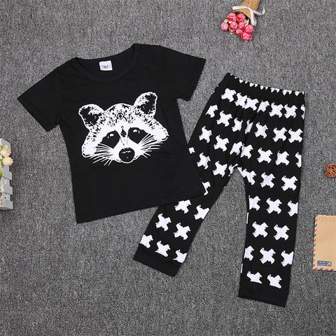 Baby Boys Clothing Sets Baby Girls Boys Fox Cotton Tops T-shirt+Pants Leggings 2pcs Outfits Set Costume Boys Clothes