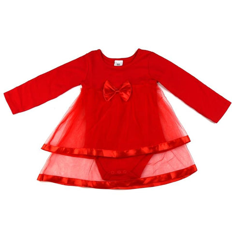 Drop shipping Newborn Baby dress, Baby girl clothes With Bowknot, Long sleeve Vestido infantil, Net Baby girl dress