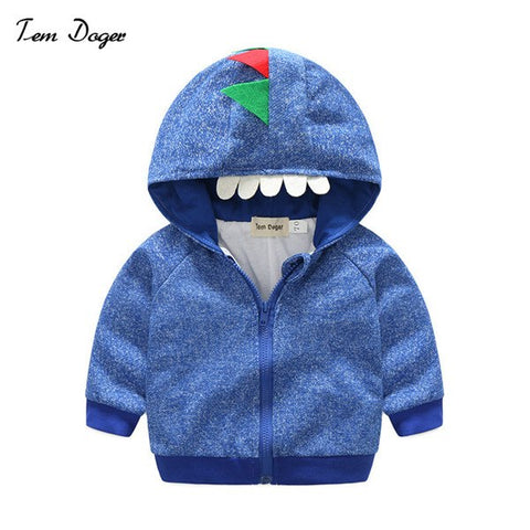 Spring Autumn Boys Tops Jackets Casual Hooded Baby Boys Long Sleeve Outerwear Coats Monster Jackets for Boys