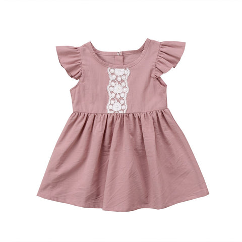 Toddler Baby Girls Clothes Newborn Kids Infant Party Lace Dress Summer