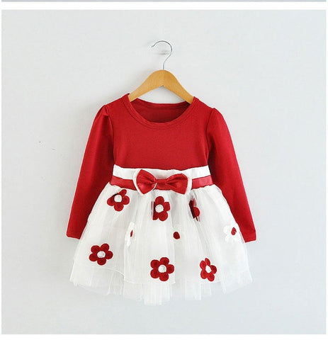 Toddler Girl Clothes New 2018 Flower Girl Wedding Dress Children's Costumes for Kids Infant Party Baby Girl First Birthday Dress