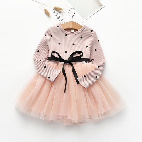 3fe71a51a609 Toddler Girls Dress 2018 Autumn Winter Kids Girls Long Sleeve ...