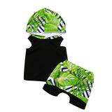 Toddler Kids Baby Boys Summer Set Hoodie Tops Shirt+ Short Pants 2pcs Outfits Clothes 1-6T