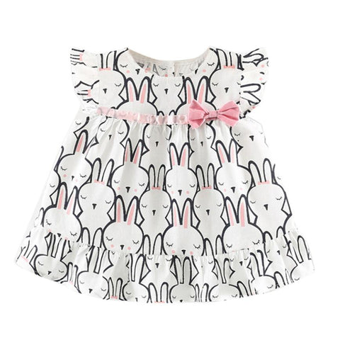 Toddler kids dresses for girls Baby Girls Sleeveless Rabbit Clothes Party Princess Dresses girls dresses 2018 cotton l0709