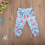 Toddlers Kids Baby Boys Girls Dinosaur Deer Pattern Harem Pants Trousers Leggings Bottoms Hot