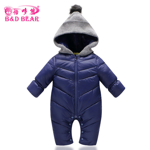 Toddlers Snowsuit Winter Baby Boys Rompers Warm Overalls for Baby Girls Newborn Cotton-padded Clothes Parka Thicken Baby Romper