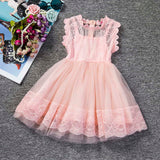 Top Fashion Ball Gown Regul New Baby Children Lace Sleeveless Beautiful Princess Dress Party Lolita Style Cute Outfits