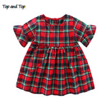 Top and Top Summer Fashion Newborn Toddler Baby Girls Dresses Princess Party Casual Cartoon Sleeveless Cotton Dresses