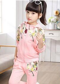 Tracksuit Girls Sports Suits Fashion Children Girl Clothing Sets 2018 Spring Autumn Kids Baby Girls Outfit Clothes 4 6 12 14 Yea