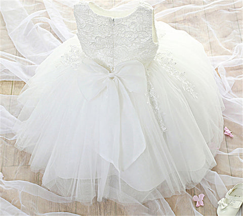 Tutu 1 Year Girl Baby Birthday Dress Kids Baby Clothes First 1st Birthday Christening Tulle Wedding Gown Dresses For Girls Party