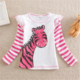 VIKITA T Shirts for Girls Long Sleeve T Shirt Baby T Shirt Child Clothes Wear Tops Cartoon Princess T-shirts for Kids L339 MIX