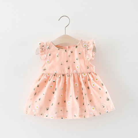Vestido Infantil Rushed New Arrival Baby Dress 2018 Summer Models Korean Girls Dress Cotton Cle Cooling Small Chrysanthemum