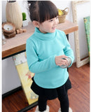 Factory Price children T-shirts baby girl boy basic t shirt solid color unisex cotton kids long-sleeve turtleneck tshirt