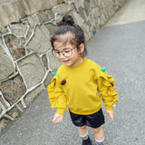 2018 Baby Girls Long Sleeve Solid Soft Toddler Kids Tops T-Shirt Warm Clothes Sweatshirt for Girls Baby Girl clothes