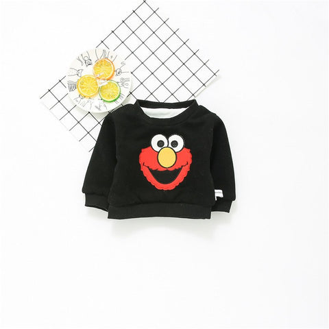 Warm Baby Autumn Winter Clothings Newborn Girls Boys Warm Lovely Cartoon Pullover Tops Kid Brushed Undershirt Sweatshirts A722