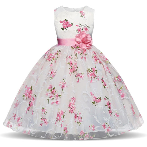 Wedding Dress For Little Girl 3 4 5 6 7 8 Ye Christening Outfits Party Clothing For Kids Summer Children Costume Vestidos