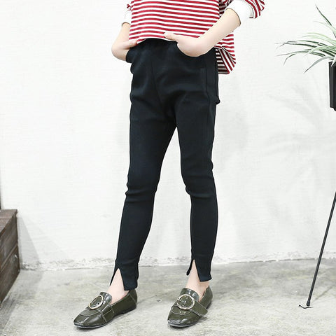 Children Skinny Pants Spring Autumn Kids White Black Long Leggings Pencil Trousers For Teenager Girls 8 10 12 14 Ye Old