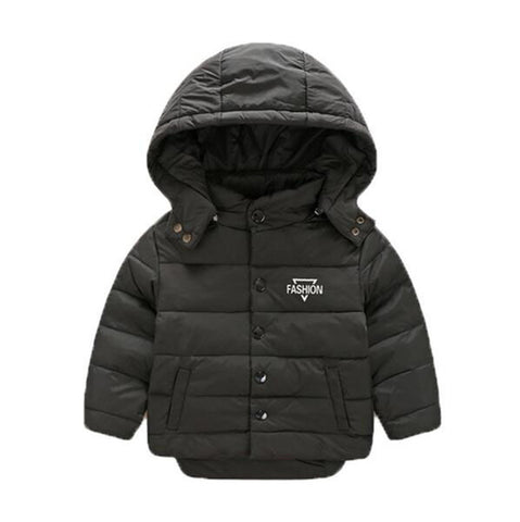 Boys Girls Thick Winter Co New Style Fashion Cute Baby Beautiful Child Warm Coats Cotton Padded Parkas Down Letter