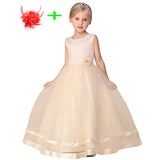 White blue pink princess birthday ball gown wedding dresses children turquoise kids dress children party dresses for girls