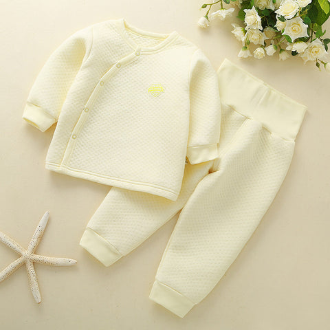 Winter Baby Outfits Baby Girl Clothes Set Warm Long Sleeve Boy Newborn Clothes High Waist PP Pants Sets Snow Sleepwear Pajamas