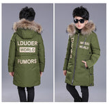 Winter Cotton Down Jackets Boys Fashion Fur Coll Thick Jackets Kids Warm Costume Co Baby Boy Clothes Winter Outfits 10 12 14