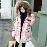 Winter Fashion Girl's Down jackets/coats Big Girl Winter Coats Thick Duck Warm Jacket Children Outerwe for -30 degree jackets