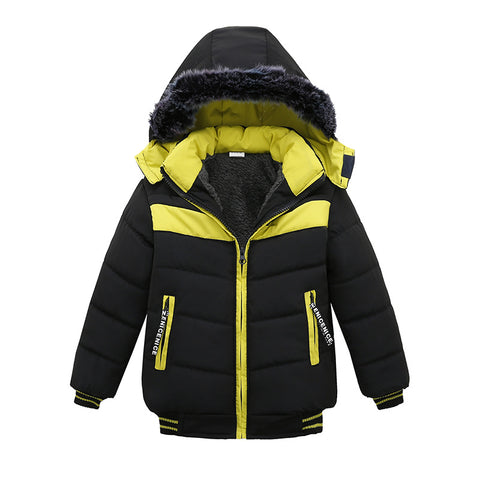 Winter Jacket For Boys Baby Fur Hooded Jacket Parkas Kids Clothes Snowsuit Outerwe Children Warm Co Clothing Infant Jacket