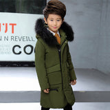 Winter Jacket For Boys Solid Warm Thick Boys Down Jackets Fur Hooded Kids Co Autumn Teenage Clothes For Boys 6 8 12 Years