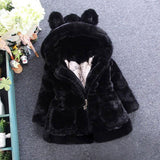Winter Jacket For Girls Snowsuit Baby Kids Clothes 2018 Thicken Warm Faux Fur Fleece Outerwe Xmas Children Hooded Cheap Coats