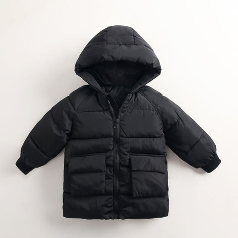 Winter Jacket for Boys 2-8 Years European Green Co Kids Fashion Thick Warm Hooded Jacket For Girls Autumn Long Co Children