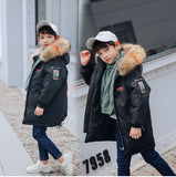 Winter Jacket for Boys Fur Hooded Russian Girls Winter Co 2018 Children Jacket Duck Down Parkas Outerwe Long Teen Clothes