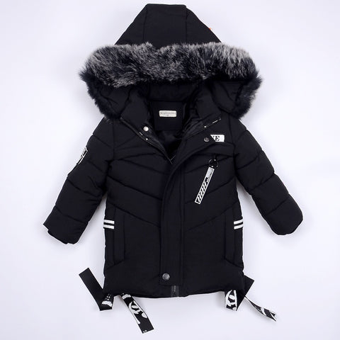 Winter Jackets for Boys Warm Co Kids Clothes Snowsuit Outerwe & Coats Children Clothing Baby Fur Hooded Jacket Infant Parkas