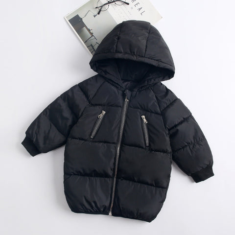 Winter Long Jacket For Girls 2 3 4 5 7 8 Years Green Kids Co Nice Cotton Parka Boy Autumn Warm Hooded Jacket Children Clothing