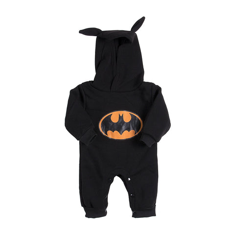 Winter Newborn Baby Boy Girls 2017 Sweater Batman Hoodies Romper Jumpsuit Gray or Black Hooded Autumn Warm 0-24M