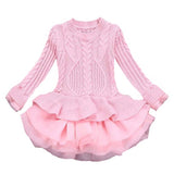 Winter Sweater Dresses For Girls Princess Party tutu Dress Christmas children's Costumes Clothing Baby Girls 6 7 8 ye Clothes