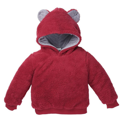 Winter Warm Jacket Boy Girl Faux Fur Fleece Sweatshirt Co Long Sleeve Hooded bobo choses winter 2018 Children kid Clothes Boys