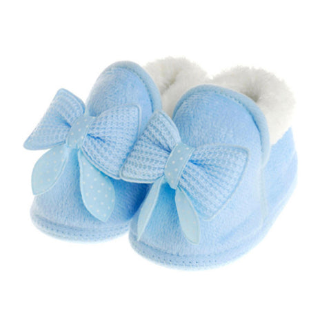 Winter Warm Newborn Baby Girl First Walker Shoes Cute Infant Toddler Soft Rubber Soled Anti-slip Snow Crib Boots Booties