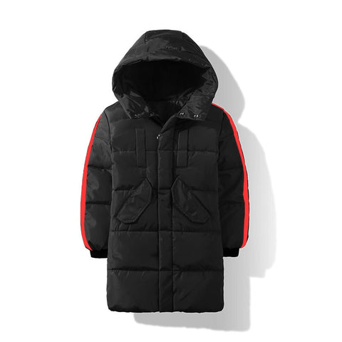 Winter White Duck Down Jacket For Girls 5-13 Years Fashion Kids Clothing Autumn Thick Warm Long Jacket For Boy Red Children Coat