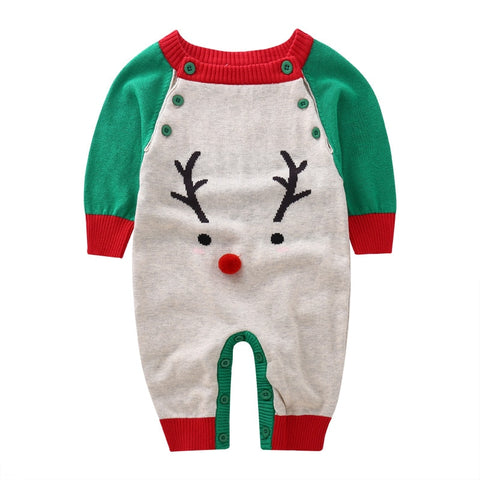 Winter autumn baby girls boys christmas deer wo rompers infant long sleeve jumpers children climbing new stuff goods 17S907