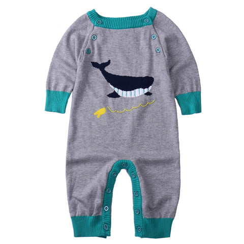 Winter christmas baby girls boys cartoon animal wo rompers  born jumpers children climbing sweater stuff goods 17S907