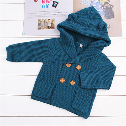Wool Baby Boy Clothes Spring Baby Sweater Fashion Kids Clothes Infant Baby Coat Autumn Newborn Outerwear Baby Boy Jackets