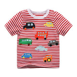 Summer Boy Girl T Shirt Fashion Children Cartoon C Striped Tops Tees Kid Short Sleeve T-shirts Toddler Clothes CG263