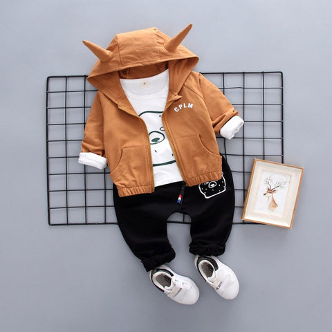 baby boy clothes male children clothing 3 pieces sets cheap china products boy jackets coat outerwear t shirt pants trousers