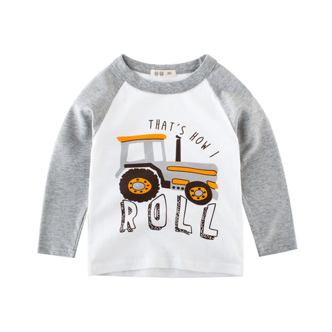 boys long sleeve tops autumn 2018 kids clothes cartoon c t-shirt baby boy t shirt for children cotton tshirt fall t-shirts top