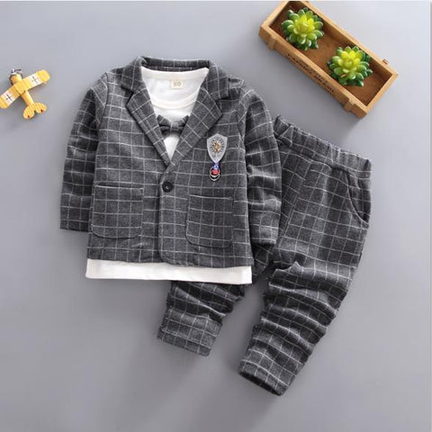 children clothing Little boy Outfit child suit autumn Fall cotton christmas We kids boutique clothes Sets for boy 1 2 3 years