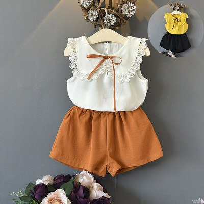 girls short sets baby summer clothes tie top shorts 2 pcs for girl 201 –  ToysZoom
